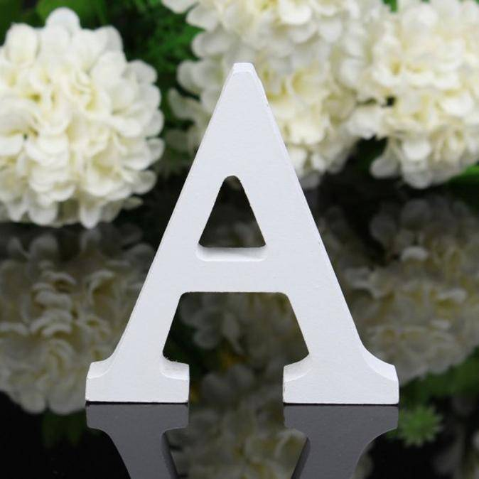 Wooden Letters White Alphabet Home Decorations